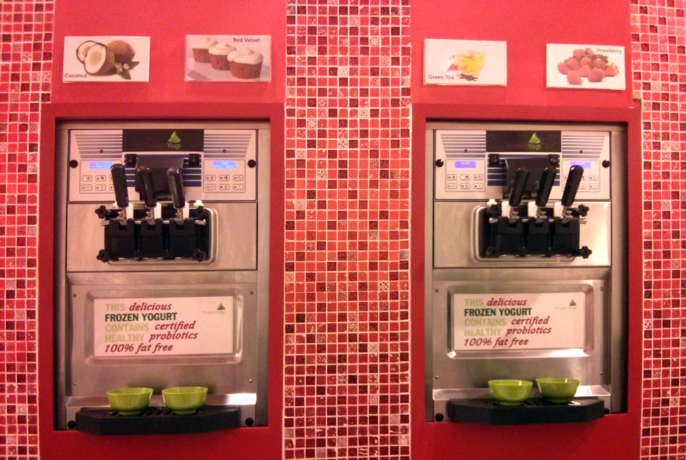 machines for dispensing the yogurt